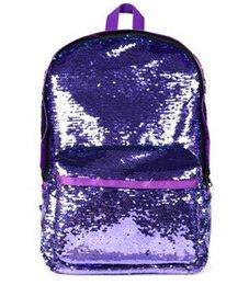 Backpack Fish Children Australia - Joyloading Mermaid Fish Scale Sequins Girls Solid Color Backpack Girls Children Pack