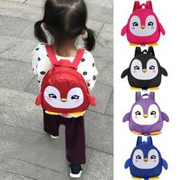 $enCountryForm.capitalKeyWord Australia - Children School Backpack Cartoon penguin Rainbow Design Soft Plush Material For Toddler Baby Girls Kindergarten School Bags#30