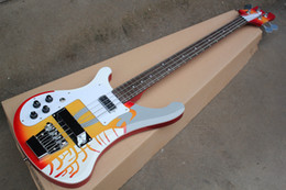 left handed basses NZ - Factory Custom Special pattern Left Hand Electric Bass Guitar with White Pickguard,Rosewood Fingerboard,Chrome Hardwares,Offer Customized
