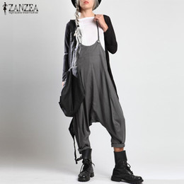 $enCountryForm.capitalKeyWord Australia - Zanzea Rompers Women Jumpsuit 2019 Fashion Ladies Harem Overalls Pants Sleeveless Drop Crotch Long Combinaison Femme Plus Size Y19060501