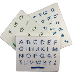 Kids Alphabet Magnets Australia - Magnetic Tablet Drawing Board Pad Toy Bead Magnet Stylus Pen 26 Alphabet Numbers Writing Memo Board Learning Educational Kid Toy