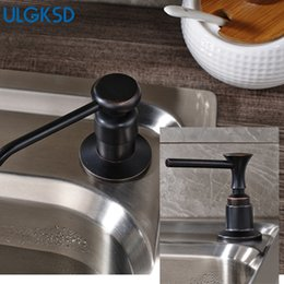 dispenser kitchen Australia - ULGKSD 2 Color Soap Dispenser Plastic Bottle Brass Head Kichen Sink Liquid Large Capacity 220ml for Kitchen Accessories