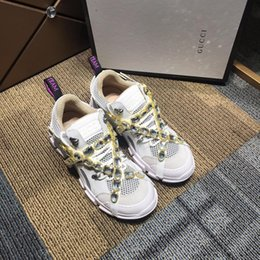 $enCountryForm.capitalKeyWord Australia - 2019 Find Similar New Unveils New Triple-S Casual Shoe Man Woman High Quality Mixed Colors Thick Heel Grandpa Casual Shoes