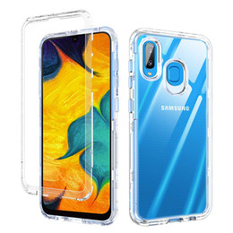 Heavy duty cases online shopping - For Samsung A30 Case Clear Defender Case in1 Heavy Duty Full Body Protection Cover Phone Case for Samsung Galaxy A50 A20