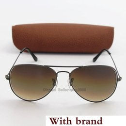 Classic Style Glasses Australia - Classic Style Txrppr Hot Sale Mens Womens Pilot Gradient UV400 Sunglasses Designer Sun Glasses Gold Brown 58mm Glass Lenses