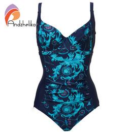 $enCountryForm.capitalKeyWord UK - Andzhelika Women One Piece Swimsuit New Sexy Fold Swimwear Retro Plus Size Bodysuit Sport Beach Swim Suits Bathing Suit Monokini Y19062801