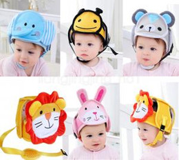 SpringS Security online shopping - Baby safety Helmet Hat Head Protective Infant Study Step Bump Hat Anti Fall Wrestling Caps Children Security Cap AAA1631