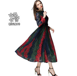 e689e991f30 2019 Summer Women's Clothing Sexy Women fashionable casual dresses Elastic  waist Medium and long style Cotton material Stand Collar MP-194