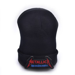 $enCountryForm.capitalKeyWord UK - Metallica band Winter Warm Beanie Men Skeleton Justiceiro Castigador Knitted Hat Adult Teenagers Boy Thrash Metal cap