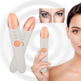 $enCountryForm.capitalKeyWord Australia - Beauty Eye Massage Device Pen Type Electric Eye Massager Heating Lip Vibration Eye Device Pouch & Wrinkle T190712