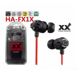 earphone ipod Canada - 2018 HA-FX1X Xtreme Xplosives HiFi Deep Bass 3.5mm In-Ear Stereo Headphones XX Casque Earphone for iPhone iPad iPod with Retail Package nice