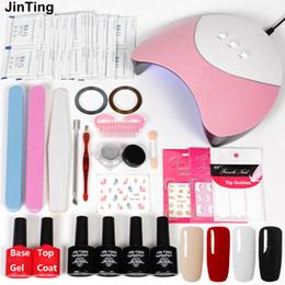 $enCountryForm.capitalKeyWord Australia - Nail Art Set 36w UV Lamp 4 Color Gel Varnish Mirror Nail Laser Powder Stickers On Nails Uv Gel Polish Set Manicure