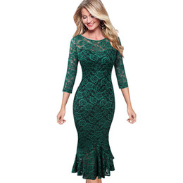 Discount casual business cocktail dresses - Vfemage Womens Elegant Vintage Floral Lace Pinup Business Casual Cocktail Party Fitted Bodycon Mermaid Pencil Sheaht Dre