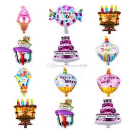 $enCountryForm.capitalKeyWord NZ - 16inch Mini Cartoon Cake Ice Cream Candy Cupcake Happy Birthday Bolloons Aluminum Balloons Birthday Party Decor children's Toys