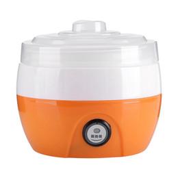 Sanq elétrica Iogurte automático Criador Máquina Iogurte Ferramenta de Bricolage recipiente plástico Kitchen Appliance EU Plug em Promoção
