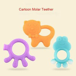 children baby teeth NZ - Baby Teether Silicone baby teether for children soothing animals chew gum baby molar toys BPA Free Tooth gel