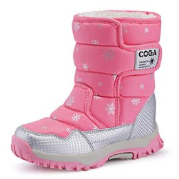 ShoeS year old kid online shopping - Children Boots Boys Girls Snow Boots Princess Hook loop Platform Kids Winter Shoes waterproof non slip For Years Old T191015