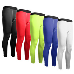 Football Dress Men UK - Mens Football Compression Long Pants Sports Underwear Base Layers Tights Gym Trouser Running Yoga Exercise Fitness Dance Dresses