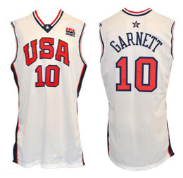 d55a4ec63 2000 Olympic Team USA Kevin Garnett  10 Retro Basketball Jersey Mens  Stitched Custom Any Number Name Jerseys