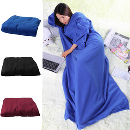 Discount wool blanket shawl 2018 The most fashionable dinner family winter warm wool blanket robe shawl with sleeves