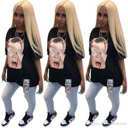 $enCountryForm.capitalKeyWord Australia - Tees Women T shirt Head portrait Print Black Half Sleeves T Shirt Women Top Femme Hippie Camisetas Mujer Dollar Fashon T-shirt N19.6-1917