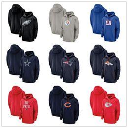 SweatShirt bear online shopping - 2019 Men Chicago Sweatshirt Bears Giants Patriots Steelers Sideline Performance Player Pullover Hoodie