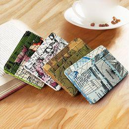 Coin Banks Wholesale Australia - Fashion Men PU Leather Magic Slim World Map Bank Card ID Holder Minimalist Pocket Wallet Coin Purse Money Bag Clip for Women Free Shipping