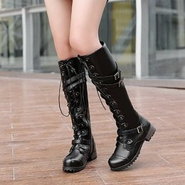 63d74b81c861 Hot Sale Women Casual Knee High Boots Fashion Autumn Winter Warm Martin Boots  Sexy Ladies Punk Combat Army