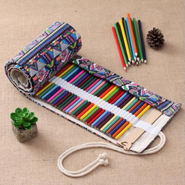 $enCountryForm.capitalKeyWord Australia - XRHYY 36 Holes Handmade Traditional National Style Simple Creative Pen Bag Curtain Box pencil organizer Gift For travel artists