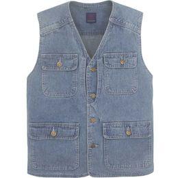 $enCountryForm.capitalKeyWord Australia - Fashion Jeans Denim Vest for Men Leisure Waistcoat Outdoor Cotton Vest with Multi Pocket Sleeveless Jacket Man Clothes Plus Size