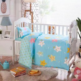 $enCountryForm.capitalKeyWord Australia - 3Pcs Baby Bedding Set 100% Cotton Crib Sets Baby Cot Set with Quilt Cover Pillowcase mattress cover Children Bed Sheet Bedspread