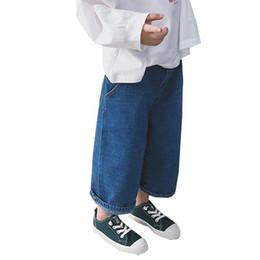$enCountryForm.capitalKeyWord UK - Children Clothing Kids Jeans Wide Leg Style Jeans for Girls Light Boys Jeans Girls Denim Pants Boys Trousers