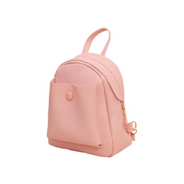 66807c1b85 2019 New Mini Backpack Fashion Leather Shoulder Bag Solid Women Travel  School Bags High Quality School Backpack For Women