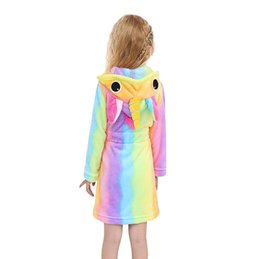 children animal bathrobe Australia - Children Towel Beach Baby Bath Robe Animal Rainbow Unicorn Hooded Bathrobes For Boys Girls Pyjamas Nightgown Kids Sleepwear Robe SH190912