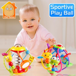 baby grasping rattles Australia - Rattle Activity Rattles Educational For Babies Grasping Ball Puzzle Playgro Baby Toys 0-12 Months Climb Learning Q190604