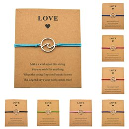men best sports bracelet 2020 - Fashion Beach Sailing Jewelry Ocean Wave Charm Love Card Bracelets Women Men Friendship Lover's Couple Best Friends