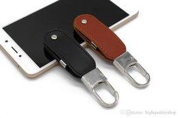 Leather Flash Drive Australia - 100% real capacity brown black colour Key leather model usb flash drive usb 2.0 4GB 8GB 16GB 32GB pendrive 64GB Free Shipping