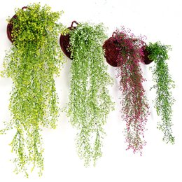 fake vines decoration UK - Artificial flowers vine ivy leaf silk hanging vine fake plant artificial plants green garland home wedding party decoration