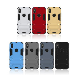 Iphone Cases 3d Man Australia - For iphone 6 6S 7 8 Plus XR X Armor Man Phone Case PC Kickstand Shockproof Combo Protector Holder 3D Back Cover Shell XS Max