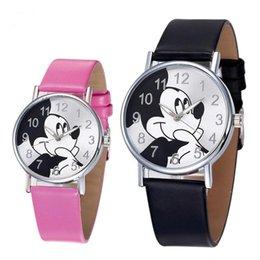 Venta al por mayor de 2018 Lindo reloj de pulsera de cuarzo de dibujos animados para niños Reloj de cuero para mujer Relojes para mujeres niños y niñas niños relojes