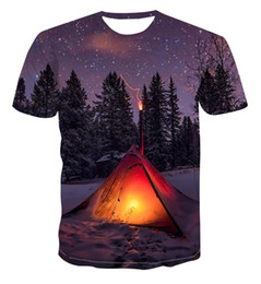 new fashion men shirt star printed 2020 - 2020 3D new color tent star fashion creative design printing t-shirt men's short sleeve all-around trend clothing s