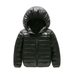 2018 brand north Children's Outerwear Boy and Girl Winter Warm Hooded Coat Children Cotton-Padded Down Jacket Kid Jackets 4-12 Years on Sale