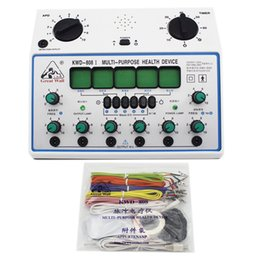 electrical stimulator Canada - KWD808-I Electric Acupuncture Stimulator Machine Electrical nerve muscle stimulator 6 Channels Output Patch Massager Care