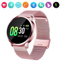 Опт Smart Watch Q8 Мужчины Артериальное Давление Водонепроницаемый Smartwatch Женщины Монитор Сердечного ритма Фитнес-Трекер Спортивные Часы Для Android IOS