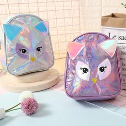 $enCountryForm.capitalKeyWord Australia - kids backpack Children Cute cartoon owl PU laser backpacks small travel bag duffle bags designer toiletry bag hand bags