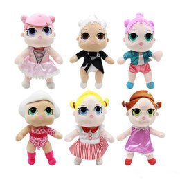 Wholesale 25CM LoL Doll with feeding bottle American plush toy Kawaii Children Toys Anime Action Figures Realistic Reborn Dolls for girls