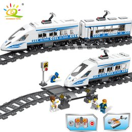 Number Blocks Australia - 583Pcs RC Flashing Wind Number Machine Train Building Blocks Compatible Legoingly City High-Speed Rail Technic Bricks Toys Gift