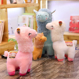 $enCountryForm.capitalKeyWord Australia - Lovely 45cm Cartoon Alpaca Plush Doll Toy Fabric Sheep Soft Stuffed Animal Plush Llama Yamma Birthday Gift for Baby Kid Children