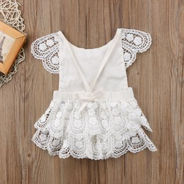 cute girl costumes for halloween Canada - 0-24M Newborn Toddler Baby Girl Princess Lace Romper Easter Costume for baby girl 2018 Cute Baby Birthday Clothes white jumpsuit