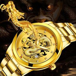 $enCountryForm.capitalKeyWord Australia - Mens Watch Waterproof Gold Dragon Sculpture Quartz Luxury Steel Watch Man Reloj Hombre 2019 Men Wristwatch Clock